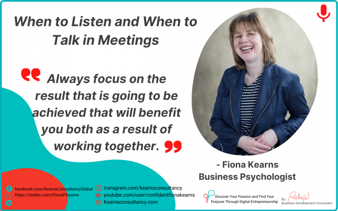 PPP Episode 5: When to Listen and When to Talk in Meetings